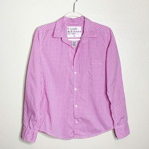 Frank & Eileen Barry Pink and White Gingham Top D
